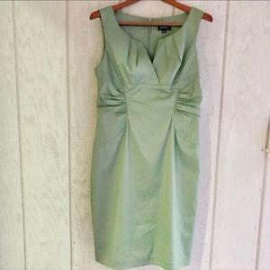 Adrianna Papell Side Ruche Evening Dress.
